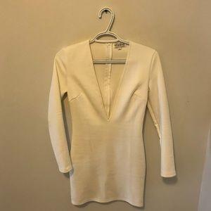 Dresses & Skirts - Size UK 6 suede white petite dress